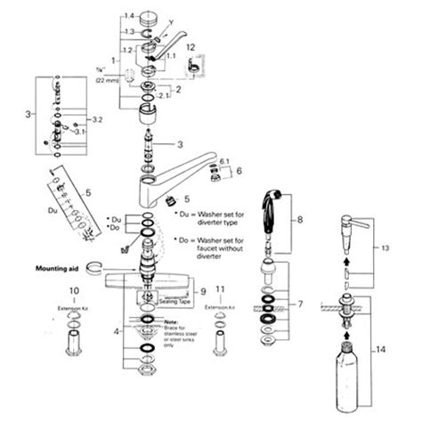 replacement parts grohe faucet repair gallery grohe kohler grohe classic 33 858 euromix kitchen faucet