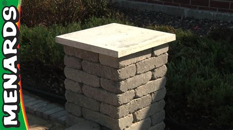 concrete block columns   build menards youtube