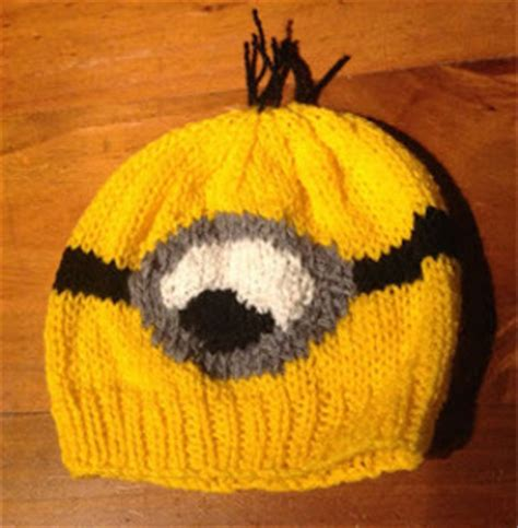 knitting pattern minion despicable me hat despicable me minion hat allfreeknitting com