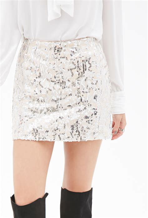 sequin abstract pattern dress forever 21 lyst forever 21 abstract sequined skirt in pink