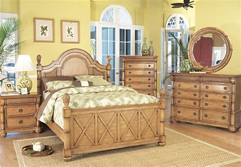cindy crawford bedroom furniture collection cindy crawford key west queen light pine 5pc panel bedroom