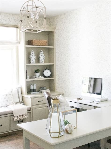Decorative Desk L by Cozy Office Design With L Shaped Desk And Window Seat