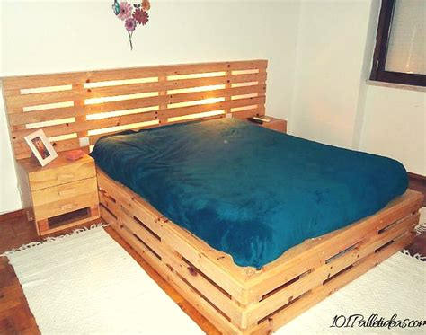 homemade bed frame ideas 33 cool diy recycled pallet bed frame to duplicate diy