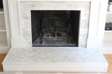 fireplace makeover sealing marble shine your light