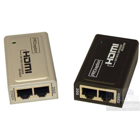 use of hdmi uk hdmi extender with use of 2 cat5e 6 cables