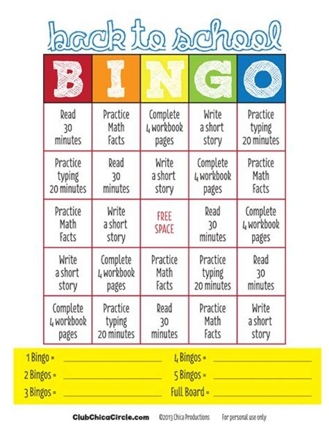printable games for tweens back to school bingo for kids free printable tween craft