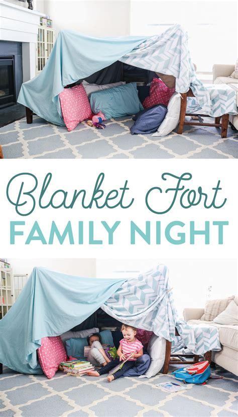 easy  fun blanket fort family night idea   littles