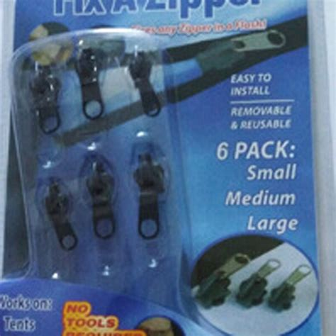 Fix A Zipper Replacement Repair Kit 6 In 1 Resleting Fix 6pcs lot universal multifunction zipper fix a zipper 6 pack zip rescue instant repair kit