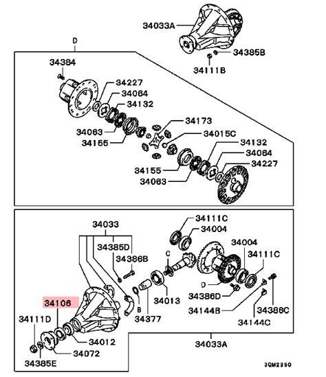 2001 Mitsubishi Pajero How To Change Pinion Seal