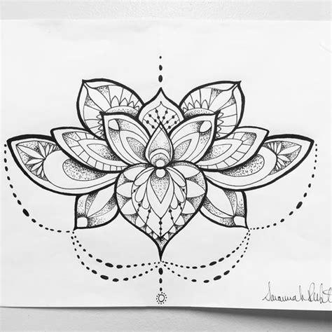 lotus tattoo designs black and white mandala lotus flower tattoo concept i created black and