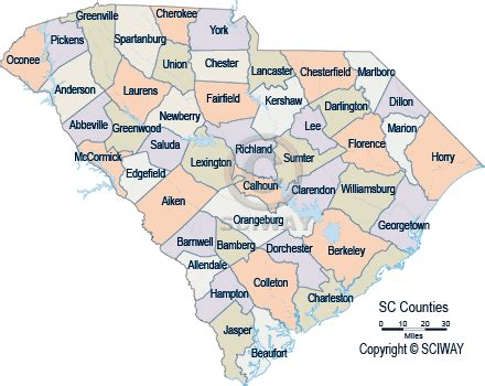map of carolina with county names south carolina detailed county maps