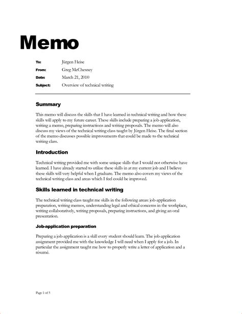 template for writing a memo 11 writing a memo memo formats