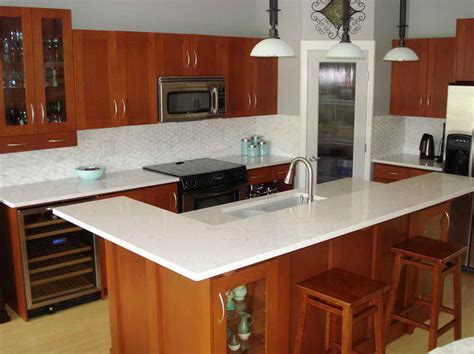 White Quartz Kitchen Countertops Wonderful Countertops For White Kitchen Cabinets This