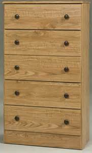 oak finish discount 5 drawer chest