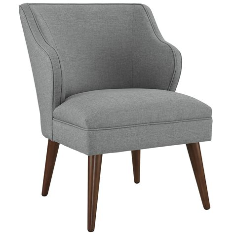 modern fabric armchair swell modern fabric upholstered armchair with dowel wood legs light gray