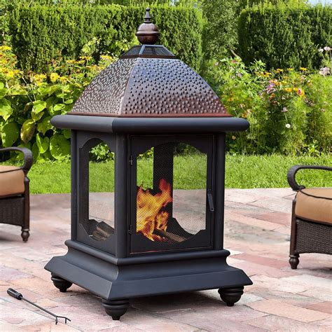 Lowes Outdoor Fireplace by Sunjoy D Cm001pst Meridian Fireplace Lowe S Canada