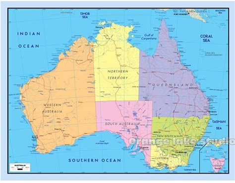 alibaba express australia 2015 simple design map of australia blue color poster