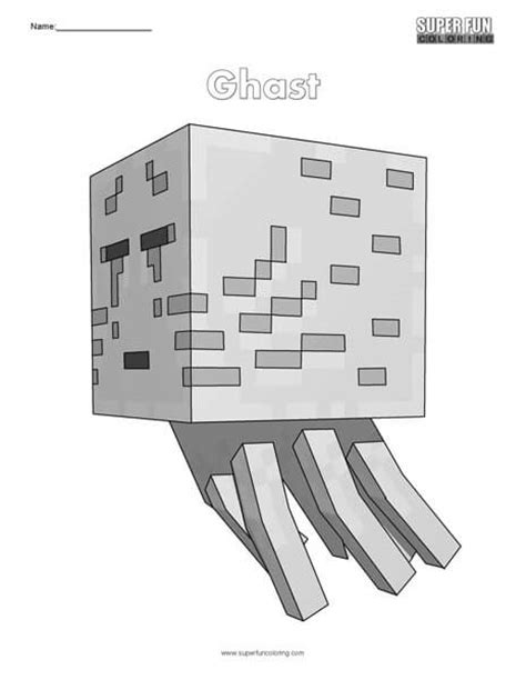 minecraft coloring pages ghast minecraft coloring super fun coloring