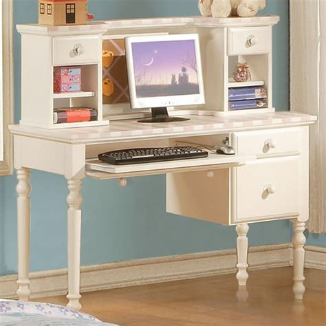 White Student Desk With Hutch Acme Furniture Zoe White Student Computer Desk With Hutch 11044 11045 Contemporary Home