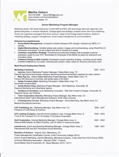 program director resume sle program manager resume sles 28 images sle project