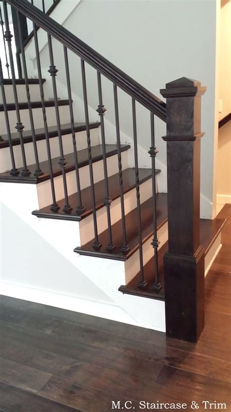 banisters and handrails installation staircase remodel from m c staircase trim removal of