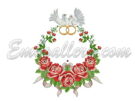 embroidery design wedding floral machine embroidery