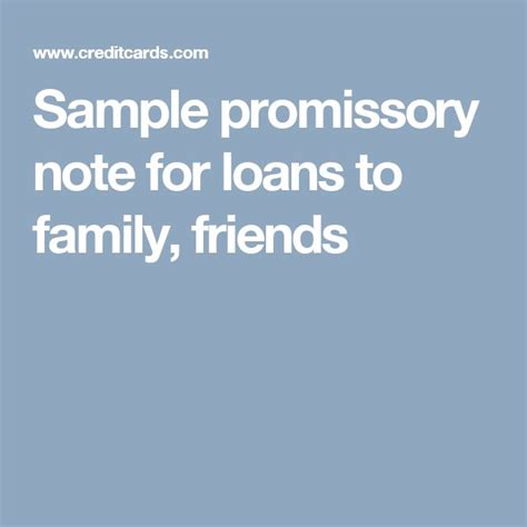 Loan Letter From Family sle promissory note for loans to family friends