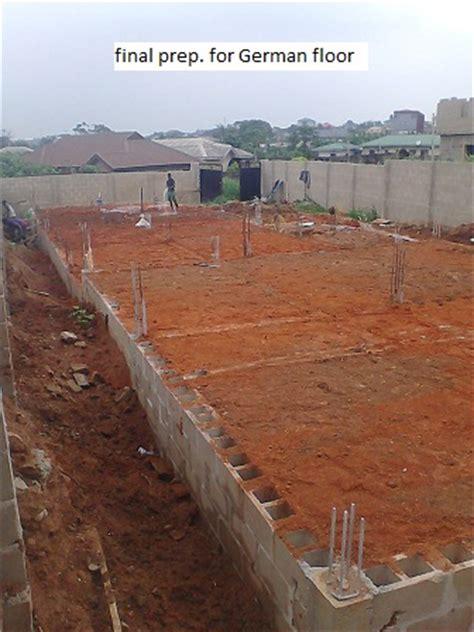 German Flooring by Construction Tread On 6 Units Of 2 B Rm Flat At Ikorodu