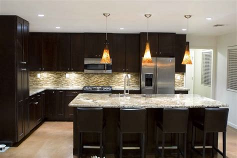 recessed lighting ideas for l shaped kitchen layout with mini glass pendant lighting above