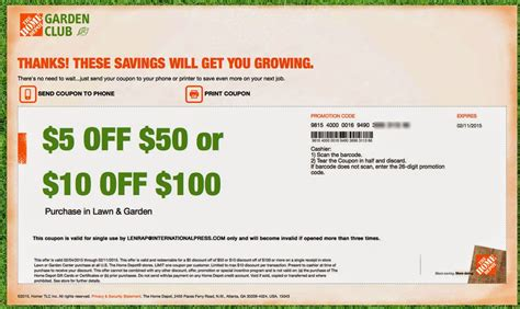 free home depot coupons for may 2016 june