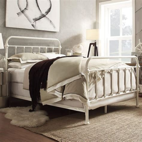 full side bed white full size metal bed modern storage twin bed design