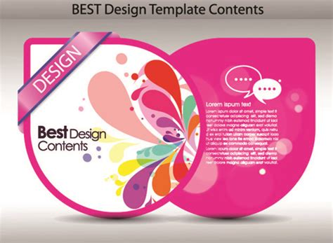 Set Of Colorful Labels With Characters Vector Free Set Of Colorful Design Label Vector Graphics 02 Vector Label Free