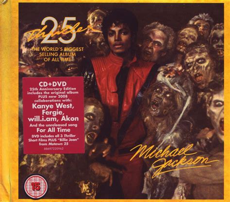 Thriller 25th Anniversary Edition Album Cover Michael Jackson Works With Akon Fergie William Kanye West For 212 Re Release by Michael Jackson Thriller 25 Cd Album At Discogs