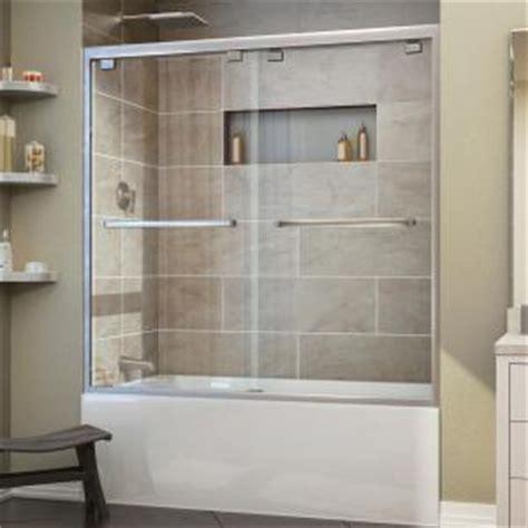 dreamline encore         framed bypass tub door  brushed nickel shdr