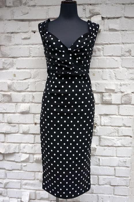 Sale Dress Polka By Gudangonline75 polka dot wiggle dress by steady clothing black sale