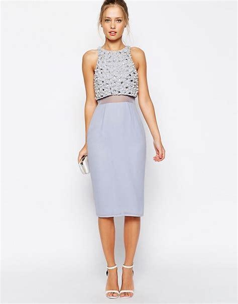 asos asos pearl embellished crop asos asos pearl embellished crop top midi dress