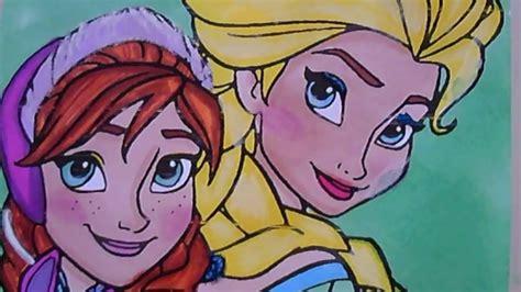 princess elsa  anna  frozen coloring pages