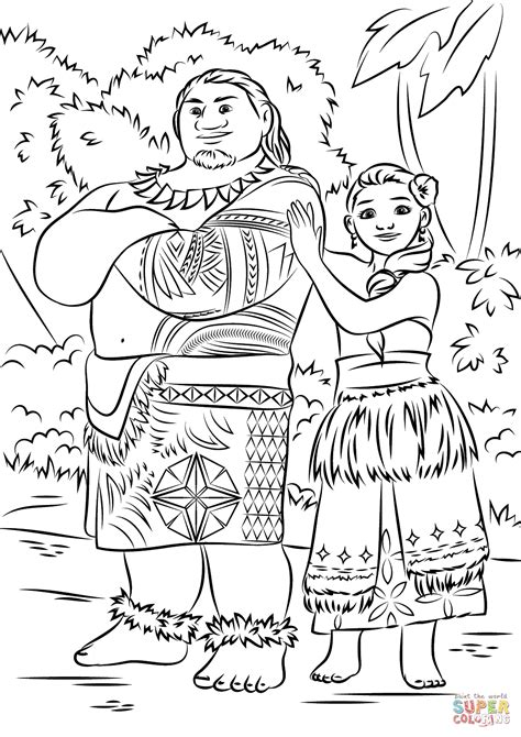 coloring page moana moana coloring pages coloring home