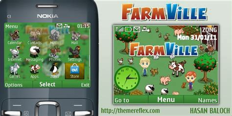 nokia c3 themes hunter x hunter farmville theme for nokia c3 x2 01 themereflex