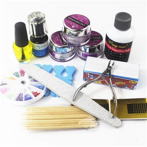 Acrylic Nail Set Acrylic Nail Kit Manicure Set Maquiagem Tools Diy
