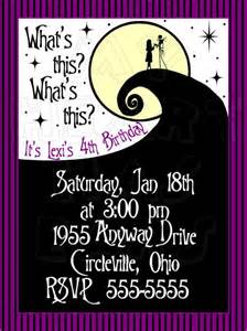 nightmare before christmas birthday custom digital invitation my heart has ears