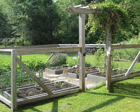 Vegetable Garden Fence Ideas Chicken Run Fence Chooks Pinterest Rail Fence Traditional Landscape And Vegetable Garden