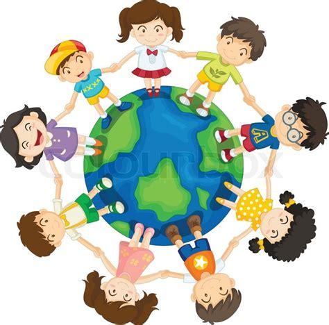 clipart mondo around the world stock vector colourbox