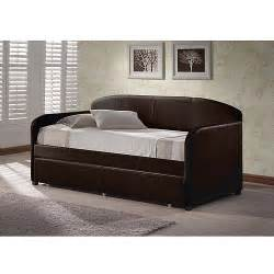 Daybed Trundle Bed Hillsdale Furniture Springfield Daybed Brown With Trundle Walmart