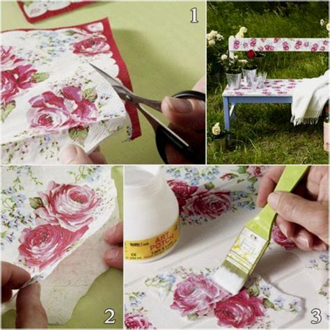 Decoupage Idea - 39 furniture decoupage ideas give things a second