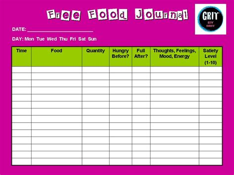 template for food journal food diary template for search results calendar 2015