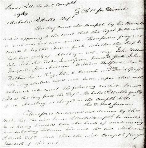 Pope County Court Records Detour Through History An 1825 Divorce Between