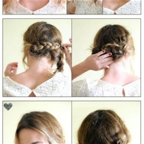 braids updo for short hairstep by step behairstyles com pages 390 braided hairstyles for