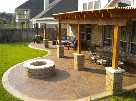 Backyard Patios With Pits by Pergola Patio Pit Outdoor Living