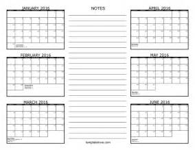 free 6 month calendar template search results for 6 month free printable calendar 2016